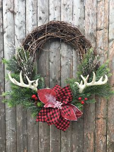 Christmas Wreath by MainLineBlossom on Etsy