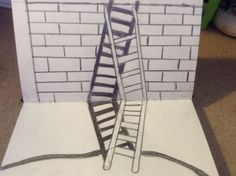 Two ladders overlapping each other xxx