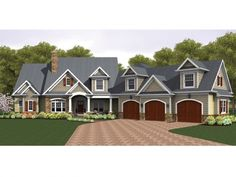 Colonial House Plan with 3247 Square Feet and 4 Bedrooms from Dream Home Source | House Plan Code DHSW075967