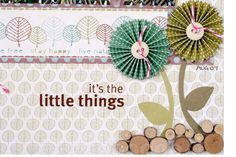 Rosettes - Cut strips of paper using a variety of different border punches. The strip needs to be 12″ in length and no more than 2′ wide. Only have 6×6 paper? Stick 2 pieces together. Want bigger rosettes? Stick two 12″ strips together!