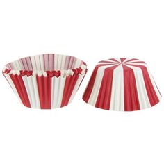 """These Red & White Carnival Baking Cups will take regular cupcakes and make them extraordinary!  They are bakery quality and easy to peel off treats.      Dimensions:        Width: 3""""      Height: 1 3/8""""        There are 50 baking cups in each package."""