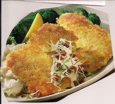Pub Restaurant Copycat Recipes-Parmesan crusted chicken with Chardonnay sauce