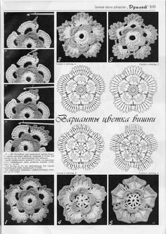 crochet flowers pattern