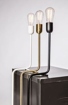 Love these gorgeous lamps via STIL INSPIRATION: Minimalist lamp | Kavalier