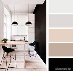 A handy little guide for future stars of interior design. Paint Colors For Home, House Colors, Colour Combinations Interior, Decoration Palette, Appartement Design, Room Color Schemes, Cuisines Design, Bedroom Colors, Interior Design Kitchen