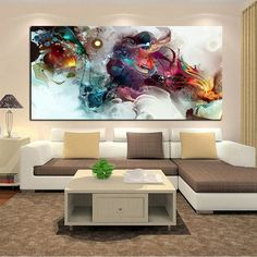 Abstract Colorful Ocean Large Oil Painting Print on Canvas Painting Landscape Posters Wall Art Picture for Living Room Cuadros Canvas Painting Landscape, Oil Painting Abstract, Abstract Wall Art, Abstract Watercolor, Painting Prints, Canvas Wall Art, Canvas Prints, Images D'art, Dragon