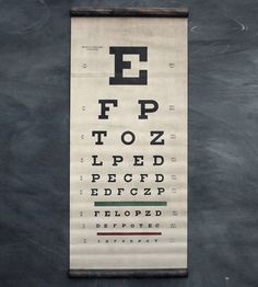 Eye Exam Canvas Chart | A throwback to classic exam room charts, with an arguably even... | Paintings