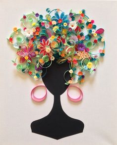 Toile buste quilling