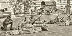 Fotografías de AATB - Allied Airsoft Team Brifox. Retocadas por A.J.G.F. Museo Militar Almeyda. Tenerife 18 de Mayo 2.013. EN ALMEYDA: DIA INTERNACIONAL DE LOS MUSEOS Noches de los Museos - Museo Histórico Militar Almeyda, Santa Cruz de Tenerife.