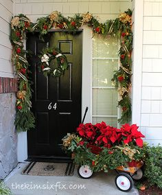 A Traditional Christmas Front Porch