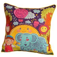 Folk Animals kids cushion covers- KCC- 167