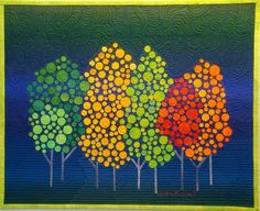 """Autumn in New York""  by Diane Evans at TAFA: The Textile and Fiber Art List"