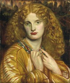 Helen of Troy - Rossetti Dante Gabriel Date: 1863 Style: Romanticism Genre: mythological painting Media: oil