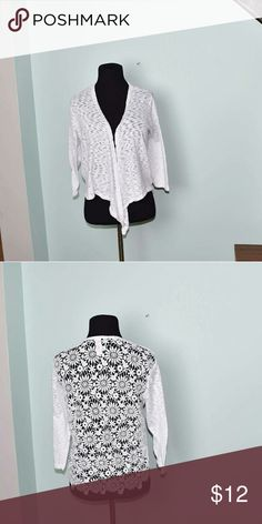 Beautiful Ivory Lace Flowy Cardigan In excellent condition. Beautifully made and extremely soft. Buy three items and get one free plus 15% off your purchase total! Sweaters Cardigans