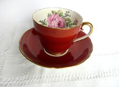 Adderley bone china brown and gold tea cup by toastandmarmalade1, $28.00