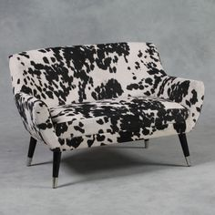 Black and White Faux Cowhide Fabric Retro Sofa 75 x 73 x in Home, Furniture & DIY, Furniture, Sofas, Armchairs & Suites Cowhide Fabric, Fabric Sofa, Rustic Furniture Stores, Retro Sofa, Beautiful Sofas, Black Sofa, 2 Seater Sofa, Vintage Chairs, Furniture Design