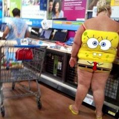 wrong on so many levels! Spongebob Squarepants Tank Top - Stay Classy People of Walmart - Funny Pictures at Walmart People Of Walmart, Only At Walmart, Go To Walmart, Funny People, Stupid People, Gross People, Walmart Walmart, Creepy People, People People