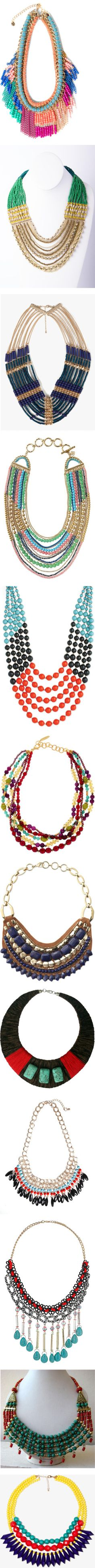 """Beaded Necklaces"" by dana-forlano on Polyvore"