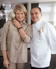 Jean-Georges Vongerichten and I loved the stuffed-animal theme, and we each found a favorite--a bear for me and a mouse for Jean-Georges.