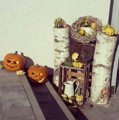 #Halloween #Deko #kürbis #hauseingang