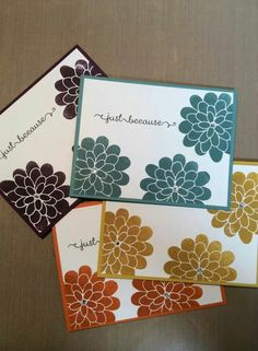 This card would be great as a Note Card Gift set with envelopes to match , sweet and simple.