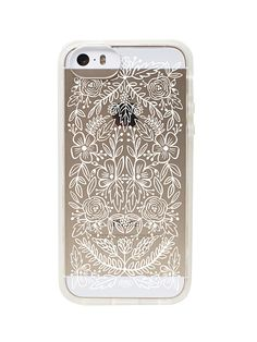 Rifle Paper Co clear lace iphone case