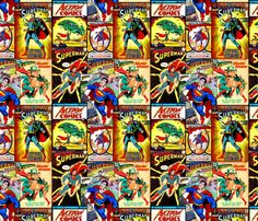 Superman fabric by retropopsugar on Spoonflower - custom fabric
