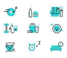"Dmitri Litvinov / Icon set for Quoterobot – ""Ten Steps to Escape Your Digital Hub"""