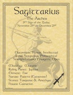 A wonderful reference, the sagittarius poster explores the qualities of the 9th…