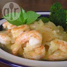 Camarão com mel e gengibre @ allrecipes.com.br