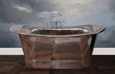 Buy Jig Normandy Copper Bath with Nickel Finish - 0 Tap Hole today. JIG Baths Part No: Free UK delivery in approx 20 working days. Cast Iron Bath, Copper Bath, Heating And Plumbing, Roll Top Bath, Nickel Finish, Bathroom Accessories, Bathtub, Traditional, Metal