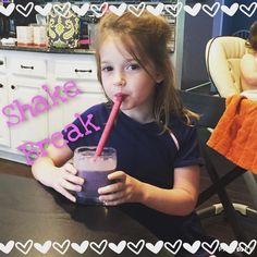 This kid LOVES my superfood shake. She's been drinking one each day as I cook dinner. Tonight's flavor is vanilla shakeology w/ black berries. Shakeology is a blend of 70 healthy ingredients; 41 of which are classified as Super Foods! The protein content works to keep you full through out the day and naturally reduces cravings!  Shakeology is all natural lactose free gluten free soy free and free of artificial sweeteners. It's great for people trying to lose weight and simply maintain a…