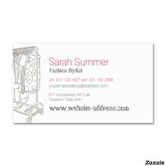 Fashion Mode Stylist Business Card | Business cards