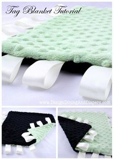 Tag Blanket Tutorial for Babies