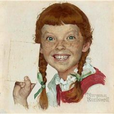 """Look, Mom – No Cavities!"" By Norman Rockwell American painter. Norman Rockwell Prints, Norman Rockwell Paintings, Norman Rockwell Self Portrait, The Saturdays, Arte Pop, American Artists, Great Artists, Famous Artists, Mail Art"