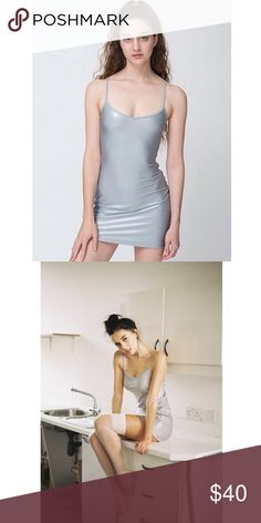 Name Your Price! American Apparel Shiny Cami Dress Never worn ! From American Apparel's Cali Sun & Fun line. Feel free to make an offer (: American Apparel Dresses Mini