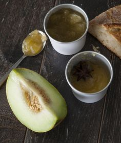 Honeydew melon Jam with Raki Greek Desserts, Greek Recipes, Fun Desserts, Bar Recipes, Honeydew Melon Jam, Greek Cooking, Sweet Sauce, Sweet Tooth, Pudding