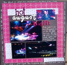 Layout: Hot August Night