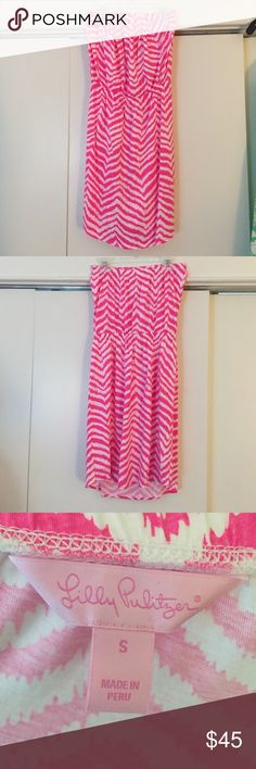 Lilly Pulitzer strapless sundress Cute Lilly sundress- so comfortable and in great condition! Lilly Pulitzer Dresses Mini