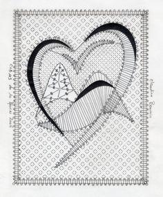 Het logo van Briançonnais, in de Hautes-Aples Bruges Lace, Bobbin Lace Patterns, Needle Lace, Lace Making, String Art, Happy Valentines Day, Blackwork, Tatting, Techno