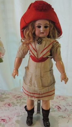 15 1/2 DEP  w Marchant Body, Antique French Bisque Doll