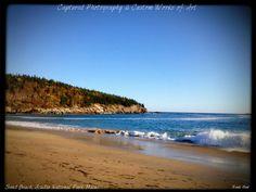 Sand Beach, Acadia National Park, Bar Harbor, Maine.
