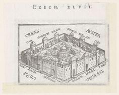 Hemelse stad in visioen van Ezechiël, Hans Holbein (II), Veit Rudolf Specklin, 1538
