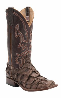 Anderson Bean® Men's Distressed Brown Big Bass Double Welt Square Toe Cowboy Boots