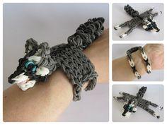 Loombicious 3D raccoon bracelet Rainbow Loom