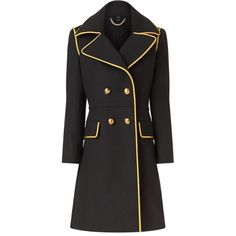 Burberry Double-Breasted Military Cashmere Coat ($3,995) ❤ liked on Polyvore featuring outerwear, coats, double-breasted coat, military fashion, burberry, military coat and burberry coat