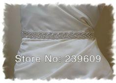 Famous designer Wedding Dress Sashes Bridal Sash With Beaded Wedding Dress Waistband Shinning Beading Glass Stone Cheap Low High $39.00