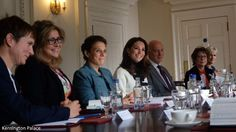 Earlier today, the Duchess of Cambridge hosted a roundtable discussion on maternal mental health at Kensington Palace with The Royal Foundat...