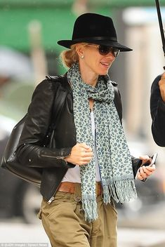 Naomi Watts layers the accessories while in NYC #dailymail