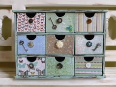 Vintage Inspired Jewelry Box Organizer Home Office by DippityDaisy